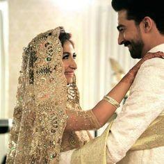 Hira Tareen wears Adnan Pardesy on her wedding day