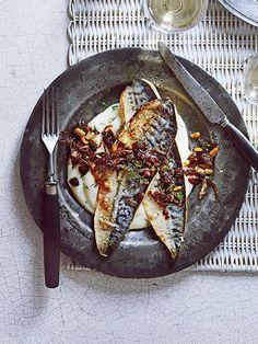 Grilled Sicilian mackerel with cauliflower purée