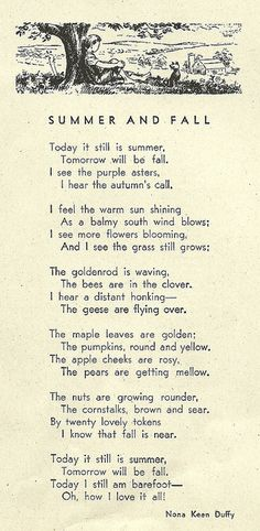 summer and fall poem - I love all four seasons!