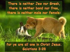 All one in Christ Jesus.