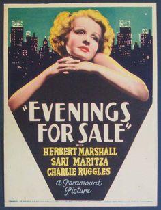 "HERBERT MARSHALL in the film ""Evenings For Sale"""