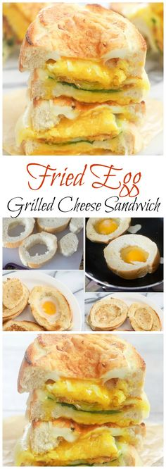 Fried Egg in Hole Grilled Cheese Sandwich
