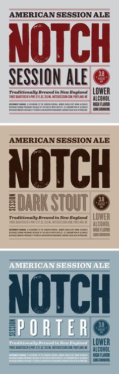Liquor Store Logo Design | Notch Beer on the Pantone Canvas Gallery