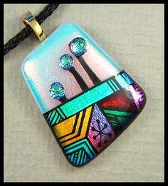 Original dichroic glass pendant...Mosaic Garden...SRA | silvermoonlyn - Jewelry on ArtFire