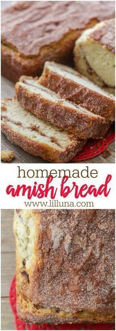 bread recipes Homemade Amish Bread - seriously one of the easiest bread recipes youll ever try! Super soft and fluffy bread covered in an irresistible cinnamon sugar mixture! The secret to the fluffiness is the buttermilk in the dough! Cinnamon Amish Bread, Amish Bread Recipes, Bread Machine Recipes, Cinnamon Rolls, Amish Sweet Bread Recipe, Breakfast Bread Recipes, Dutch Recipes, Friendship Bread Recipe, Amish Friendship Bread