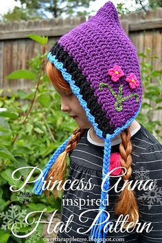 This pattern was designed for a 4-6 year-old child but because of the style, one size fits most children. You can make it bigger by adding rows to the purple section after row 12.