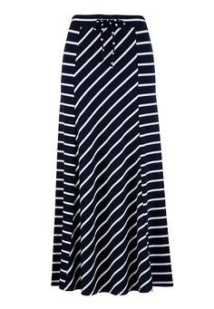Stripe Knit Maxi Skirt