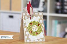 Weihnachtskarte mit Thinlits Dies