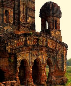 Terracotta Temple - Ruins of Garh Panachakota (near the Panchet Dam), West Bengal India