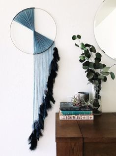 Designed to evoke the drama and beauty of waterfalls, this large dream catcher wall hanging is an avant-garde work of ar Grand Dream Catcher, Dream Catcher Craft, Large Dream Catcher, Beautiful Dream Catchers, Black Dream Catcher, Feather Dream Catcher, Dream Catcher Boho, Boho Diy, Boho Decor