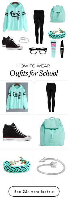 """""""Everyday school outfit"""" by bluebell116 on Polyvore featuring Wolford, Converse, Vera Bradley, Retrò, Kiel James Patrick, Max Factor and Maybelline"""