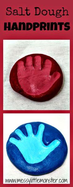 Gift idea - salt dough handprints