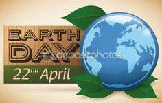 Realistic Globe Reminder of Earth Day Celebration