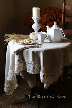 Crocheted Lace & Tea