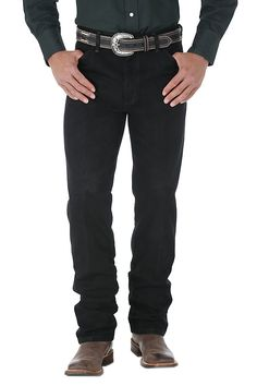 This Wrangler Cowboy Cut Original Fit Jean is the Official ProRodeo Competition jean and it's easy to see why. Made with cotton heavyweight denim so it's as tough as you, this jean is a necessity in your Western wardrobe. Jeans Fit, Black Jeans, Wrangler Cowboy Cut, Jeans Dress, Legs Open, The Originals, Denim, Fitness, Cotton