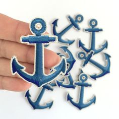 Anchor Embroidered Patch / Iron-On by WildflowerandCompany on Etsy