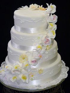 Elegante Hochzeitstorte  elegant wedding cake