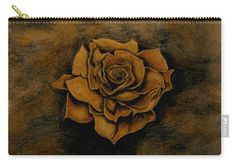 Rose Carry-all Pouch featuring the painting Autumn Rose by Faye Anastasopoulou