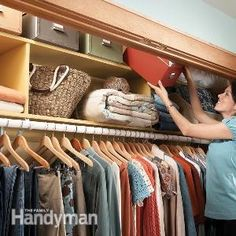12 Simple Storage Solutions -- I love the idea of using vintage suitcases for storage on closet shelves.h