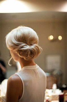 Perfectly simple wedding hair UNDO with pretty wisps, stylish, clean, romantic, classic...
