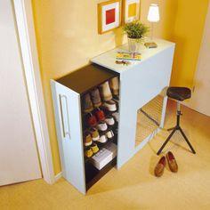 Schuhschrank bauen ---  wie cool! und noch dazu ein IKEA hack! =)
