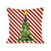 Found it at Wayfair - Christmas Tree Stripes Woven Polyester Throw Pillow