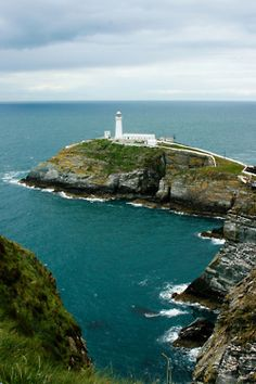 The South Stack Lighthouse. - Holy Island, Anglesey, Wales, United Kingdom - awesome place to visit. Places Around The World, The Places Youll Go, Places To See, Around The Worlds, South Wales, Wales Uk, Famous Castles, Light Of The World, Le Far West