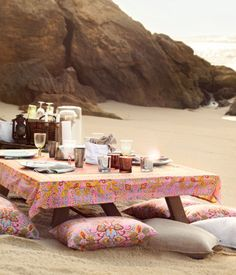 The beach picnic.