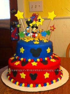 Queque de Mickey Mouse y sus amigos.