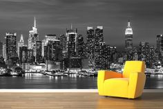 wallpaper for wall Mural New York Landscape photo Wallpaper Wall Mural Large living room bedroom backdrop painting Bedroom Wallpaper City, Cityscape Wallpaper, 3d Wallpaper For Walls, City Wallpaper, Photo Wallpaper, New York Landscape, Landscape Walls, Landscape Wallpaper, Landscape Photos