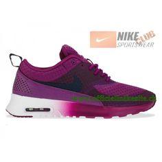 meilleures chaussures de running 599408-004A Nike Air Max Thea Print Noir /  Sapphire   Chaussure de Running pas cher   Pinterest   Air max thea, ...
