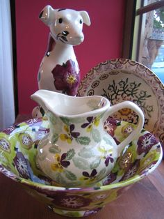 Emma Bridgewater Hellebore Dog with Hellebore Special Bowl