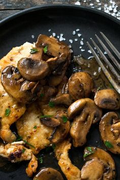 In this Provençal rendition of pan-cooked chicken breasts, the mushrooms take on and added dimension of flavor as they deglaze the pan with the help of one of their favorite partners, dry white wine