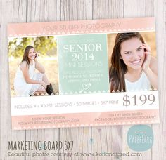 Senior 2014 Photography Marketing Photoshop by PaperLarkDesigns