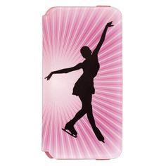 Ice Skating Design iPhone 6 Wallet Case Incipio Watson™ iPhone 6 Wallet Case
