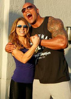 "Jillian Michaels and Dwayne ""The Rock"" Johnson. Hard body's I love it love them"