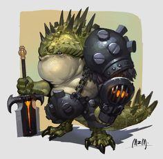 lizard soldier, M ZM on ArtStation at https://www.artstation.com/artwork/lizard-soldier-16d8f46a-1f83-4742-9c15-b8d42ce141c7