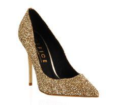 Office On Top Gold Glitter - High Heels