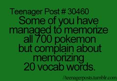 Teenagerposts that might be me........