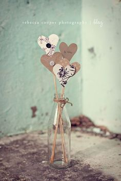 Paper heart bouquet