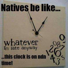 Natives be like