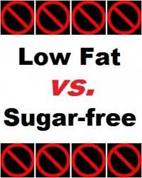 HEALTH FACT/TIP: If you are trying to make healthier choices by choosing fat-free and low-fat products be careful. Companies often trade a reduction in fat for an increase in sugar – which is added to make up for lost flavor. Make sure you check the label to see how much sugar, as well as fat, is in a low-fat product.