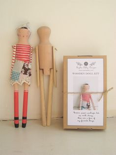 Wouldn't this be fun to try?  Sophie Tilley is now offering wooden doll kits in her Etsy Shop!  (Sophie Tilley Designs)