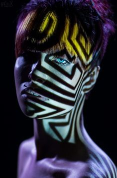 Animul by Stanislav Istratov on Projector Photography, Light Photography, Portrait Photography, Creative Portraits, Creative Photos, Photoshop, Female Portrait, Color Portrait, African Hairstyles