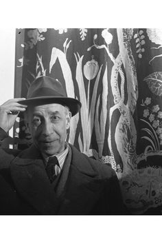 """Portrait of Josef Frank; courtesy of Svenskt Tenn. From the L'AB feature, """"Have It Your Way: Enduring design advice from moderate modernist Josef Frank"""" Swedish Decor, Swedish Design, Scandinavian Design, Josef Frank, Patterned Furniture, Textile Museum, Mid Century Design, Repeating Patterns, Contemporary Furniture"""