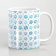 Tiny Blue Watercolor Flowers, sorted Coffee Mug Deer Pattern, Clouds Pattern, Circle Pattern, Watercolor Fish, Watercolor Pattern, Watercolor Flowers, Christmas Star, Retro Christmas, Star Patterns