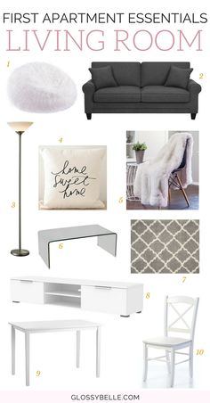 The Ultimate Guide: First Apartment Essentials // If you're about to move out into your first apartment, here are the most important living room apartment essentials you'll need to be ready to move out on your own. adulting | move out for the first time | moving out | independence | living room essentials