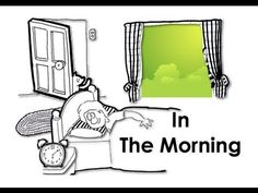 In The Morning. Adverbs of Frequency. Easy English Conversation Practice.