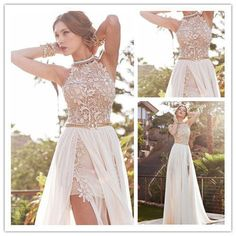 Cheap dress evening gowns, Buy Quality gown corset directly from China dress ball gown Suppliers: 	2014 Newest Style Sexy Appliques Beadings Long Chiffon Zuhair Murad Lace Evening Dress Prom Gowns  	**************