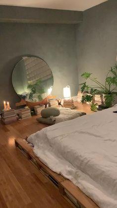 Room Ideas Bedroom, Bedroom Inspo, Bedroom Decor, Nature Bedroom, Dream Rooms, Dream Bedroom, Deco Studio, Aesthetic Room Decor, Dream Home Design